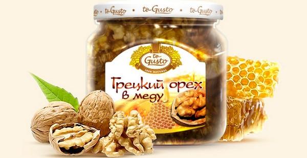 грецкие орехи с медом