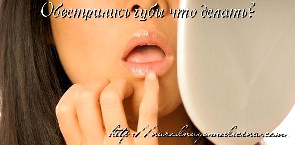 обветрелись губы что делать