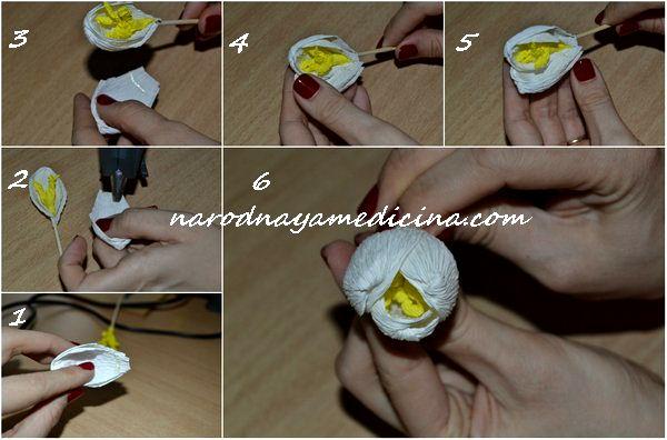 как сделать крокусы из гофрированной бумаги своими руками