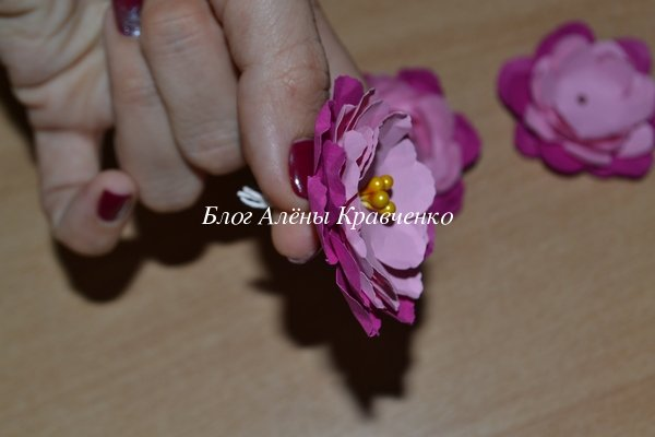 Роза из бумаги для скрапбукинга своими руками