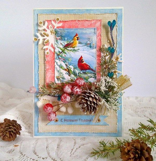 Скрапбукинг новогодние открытки идеи
