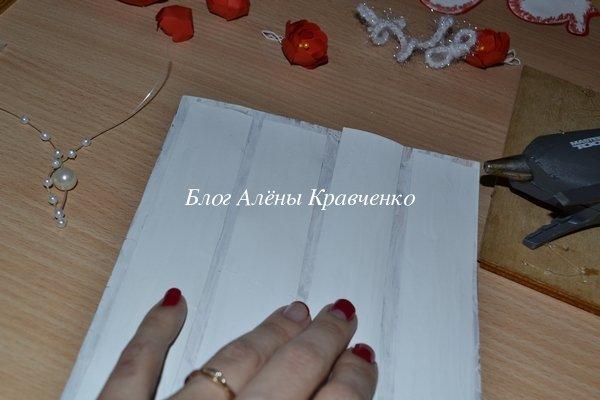 Скрапбукинг новогодняя открытка мастер класс