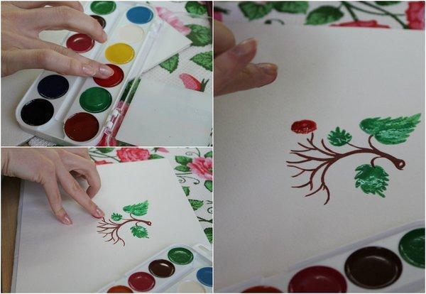 Техника рисование пальцами мастер-класс
