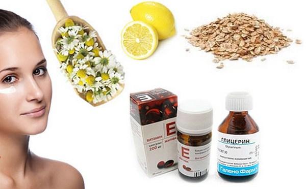 Глицерин и витамин е для кожи лица