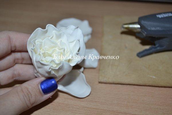 роза из фоамирана мастер класс фото