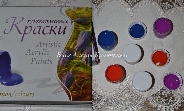Акриловая краска для росписи камней