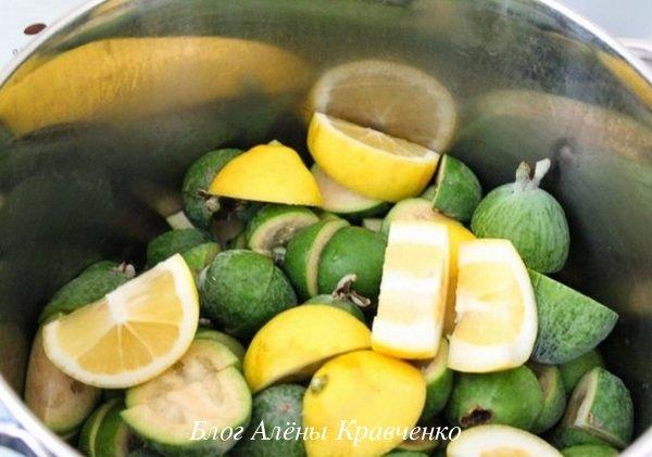 Варенье из фейхоа с лимоном