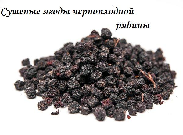 Черноплодная рябина сушеная