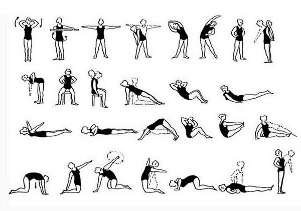 Упражнения при грудном отделе позвоночника