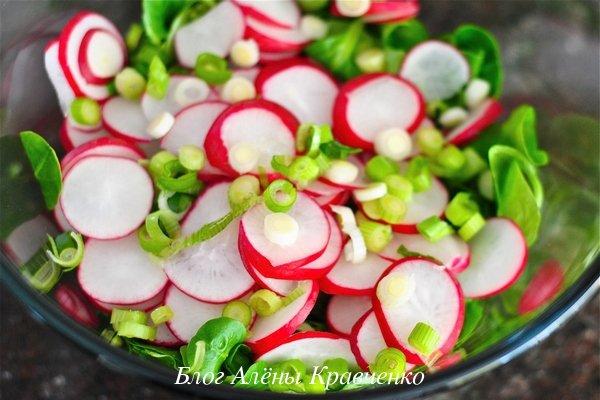 Салат с редисом