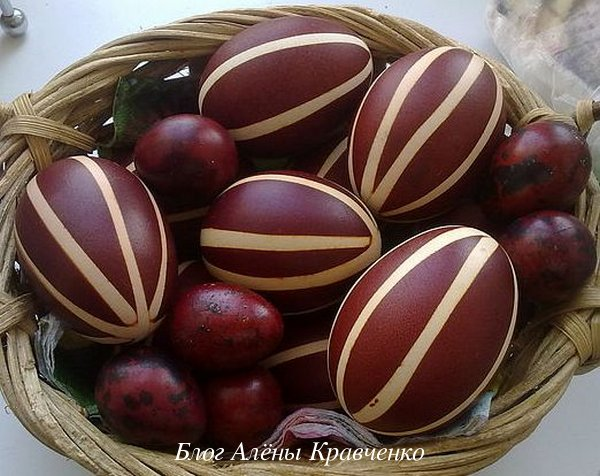 Яйца в полосочку
