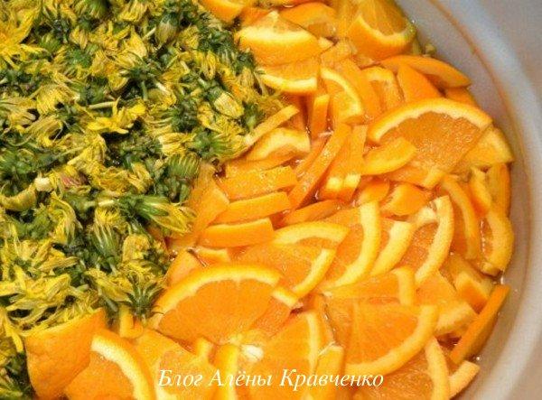 Варенье из одуванчиков с апельсином