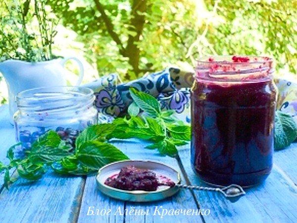 Варенье из черной смородины с мятой