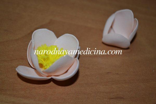 Цветы из фоамирана - резинка для волос