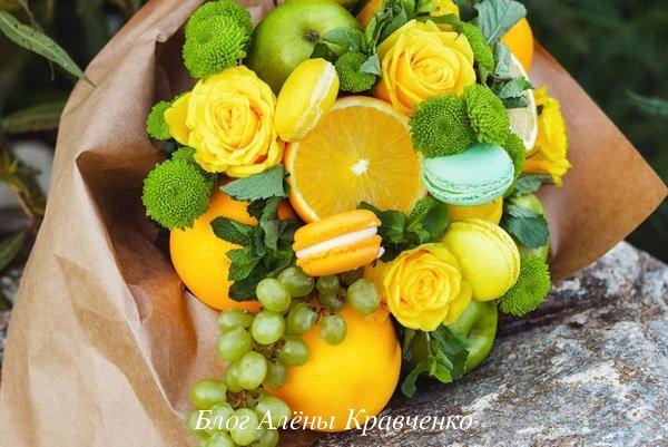Букет из фруктов учителю