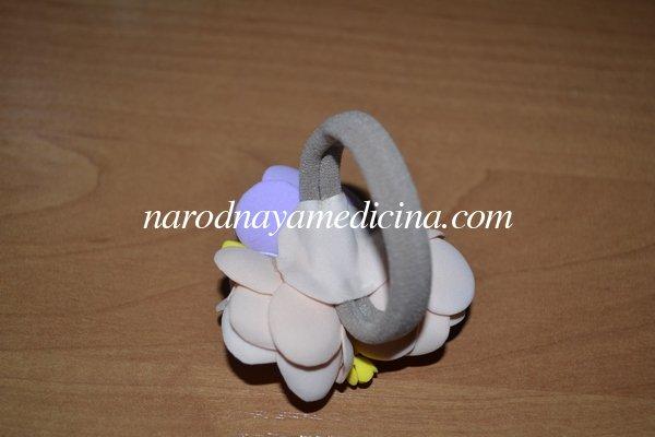 Резинки с цветами из фоамирана