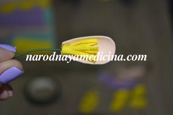 крокусы из фоамирана