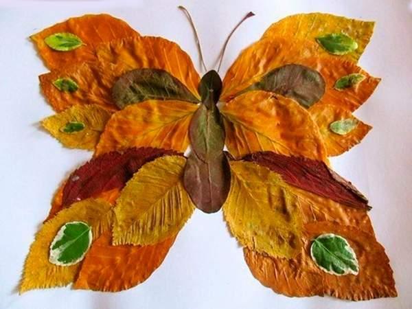 Аппликация бабочка из бумаги