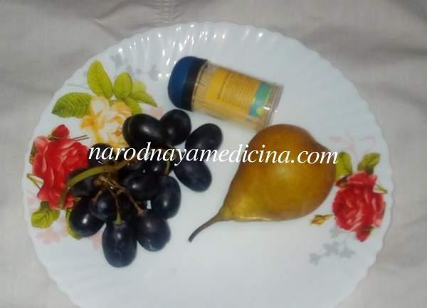Поделки из груши и винограда на тему осень