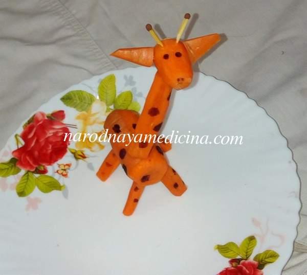 Поделки из овощей жираф