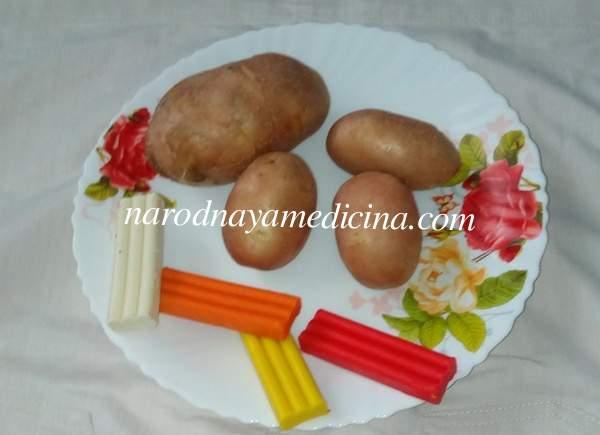 Поделка из овощей свинки