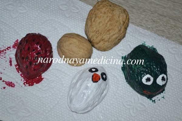 Поделки из скорлупы грецкого ореха своими руками