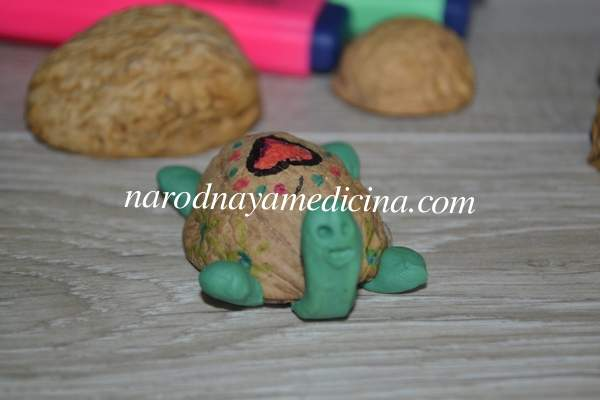 Поделки из скорлупы грецкого ореха черепаха