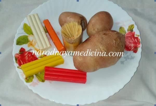 Чебурашка поделка из овощей