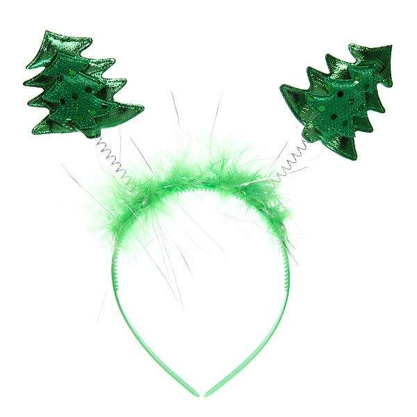 Украшение из ободка для костюма Елочка на Новый год