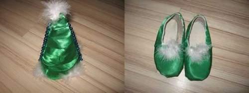 Как украсить обувь для костюма Ёлочки