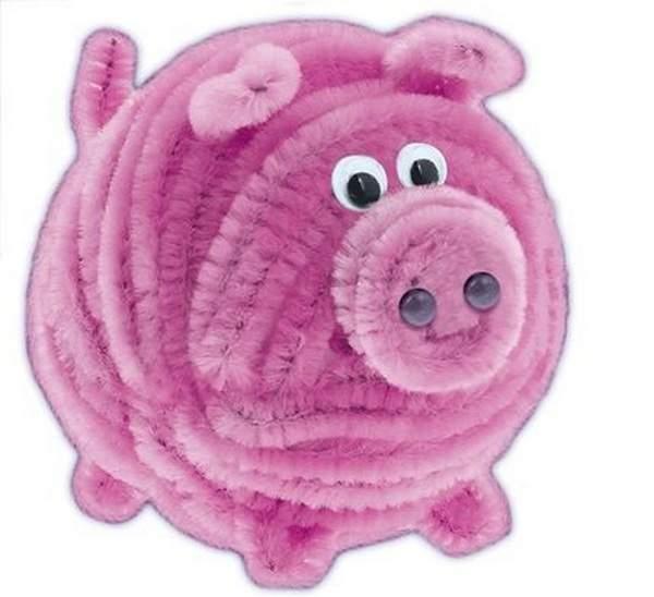 Свинка из проволоки