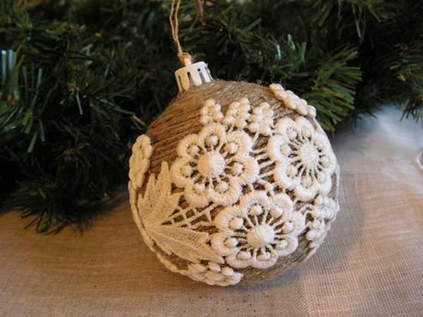 Елочные шары своими руками на елку из подручных материалов