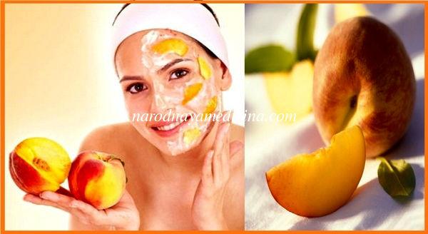 маска из персиков для лица