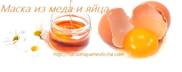 маска для волос из яйца и меда