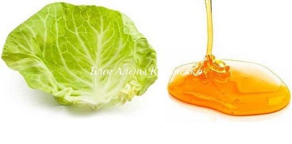 Капустный лист с медом от кашля ребенку