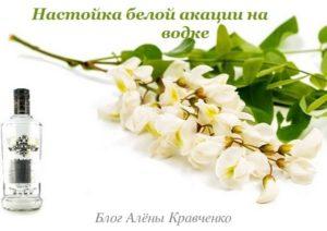 Настойка из цветов белой акации