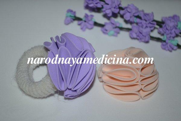 Резинка зефирка для волос из фоамирана для девочки
