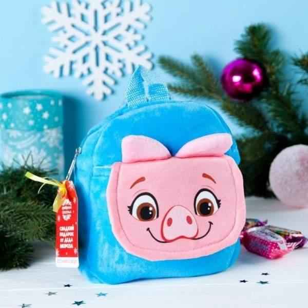 Подарок рюкзачок с конфетами для ребенка на Новый 2019 год